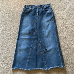 Limited Too blue denim jean skirt 100% cotton 12 R